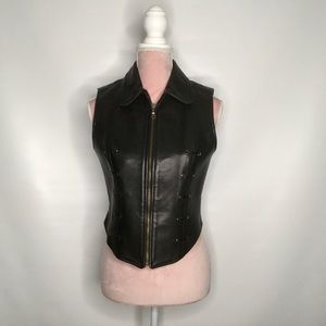 Rudsak heavy leather vest.